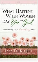 What Happens When Women Say Yes to God -- Total obedience to Christ can transform an ordinary life into a remarkable journey. This is the hope found in the liberating message of What Happens When Women Say Yes to God. Lysa shares inspiring stories from her own life, along with compelling biblical insights, as she describes what it means to partner with God in all decisions and actions. This book reveals how honoring God produces a life of deep joy and great purpose. It is an invitation to seek God and boldly ask for and expect more from the Christian life. (This is an updated release of Radically Obedient, Radically Blessed. A Bible study is included.)