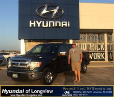 https://flic.kr/p/xzyQUq   #HappyAnniversary to Micah and your 2013 #Ford #F-150 from Danny Belew at Hyundai of Longview!   www.deliverymaxx.com/DealerReviews.aspx?DealerCode=XDUT