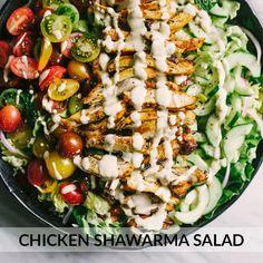 Paleo Chicken Shawarma Salad