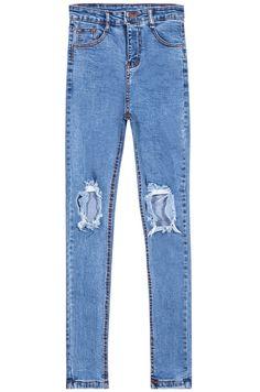 Pantalones vaqueros moda-azul claro 16.65