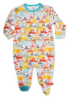 Zutano BabyBoys Infant Sunday Drive Footie White 9 Months