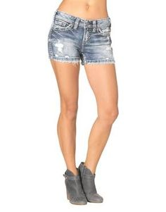 """Silver Jeans """"Aiko"""" short shorts http://jeanmachine.com/products/newarrivals"""