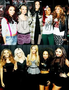 Little Mix and Tulisa :) so cute!
