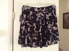 NWT INC International Concept Black and Brown Printed Skirt