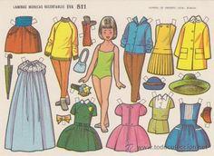 RECORTABLE (12,5X17,5)) EVA Nº 811. AÑO 1964.. (Coleccionismo - Recortables - Muñecas)