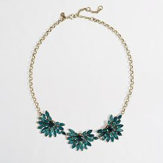 J Crew Factory crystal fan necklace