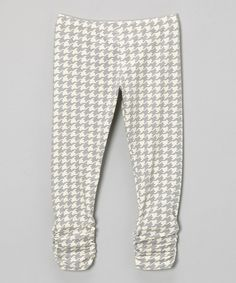 Another great find on #zulily! Gray Houndstooth Bea Leggings - Infant, Toddler & Girls by Sweet Jewelea #zulilyfinds