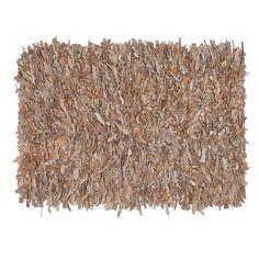 Home Furnishings by Larry Traverso Handwoven Leather Shag Rug, 24-Inches by 36-Inches, Buff * For more information, visit image link. (This is an affiliate link and I receive a commission for the sales)