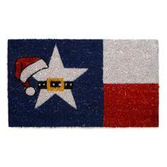 Texas Christmas Coir Doormat