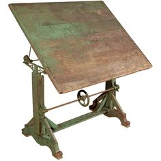 Vintage Drafting Table at 1stdibs ❤ liked on Polyvore featuring home, furniture, tables, accent tables, vintage drafting table, vintage home furniture, vintage furniture, vintage accent table and vintage table