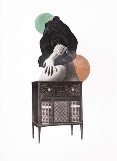 Et mon cul sur la commode…Collage, 30 x 40 cm.Jan. 2014. © Gaëlle Faure