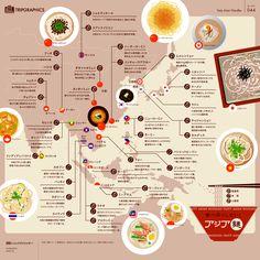 食べ尽くしたい! アジアの麺料理 トリップアドバイザーのインフォグラフィックスで世界の旅が見える