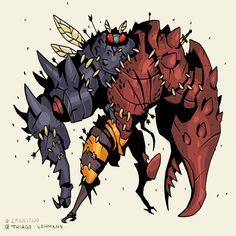 Fantasy Character Design, Character Design Inspiration, Character Concept, Character Art, Concept Art, Cool Monsters, Horror Monsters, Monster Design, Monster Art