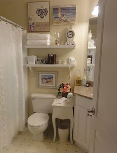 Kathryn Bechen INK | Award-Winning Writer, Bestselling Book Author, Media Guest Expert: Small Space Decorating - cute little bathroom