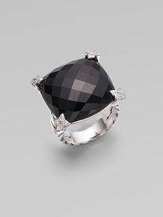 David Yurman - Black Onyx & Diamond& Ring $975