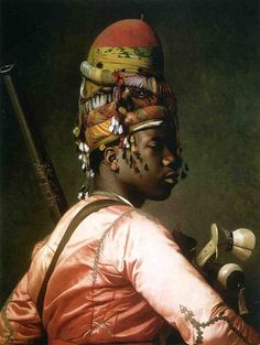 'Black Bashi Bazouk' by Jean-Léon Gérôme, French. 1869