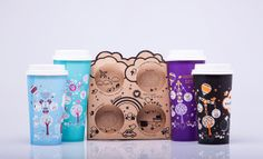 Sustainability Coffee Cups (Student Work) on Packaging of the World - Creative Package Design Gallery