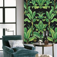 A beautiful piece of ready to hang canvas art inspired by the tropical rainforest and combined with Art Deco feel.