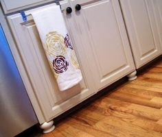 how to add feet to cabinets