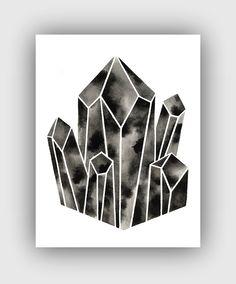 Serene: Handmade Watercolor Art from Geometric Ink