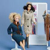 Fashion Doll Winter Outfits Crochet $$ ePattern