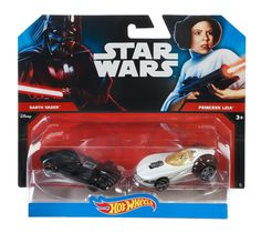 Two of kids? favorite brands?Hot Wheels and Star Wars?have joined forces! Kids and collectors alike will love seeing their favorite Star Wars characters reimagined as 1:64-scale Hot Wheels cars. Two o