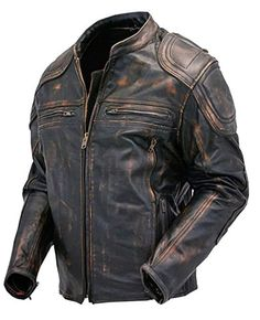 It doesn't get more OG than this. Badass quilted, distressed cafe racer vintage leather jacket for under $150
