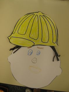 """One face, five hats. Student can make his/her face. Color & cut out different hats to """"put"""" on face."""