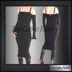 Kates Clothing Gothic Hobble Dress Black