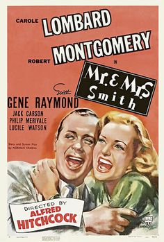 Matrimonio Original (Mr. & Mrs. Smith), de Alfred Hitchcock, 1941