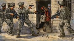US troops entering a house in Iraq Military Art, Military History, Apocalypse Art, Military Drawings, Afghanistan War, Military Pictures, Modern History, Modern Warfare, Modern Artwork