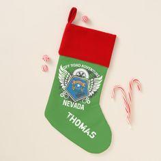 Nevada Off Road Adventure 4x4 Trail Ride Mudding Christmas Stocking #stocking #christmas #sock #xmas