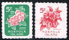 Norfolk Island 585-586 Stamps - Island Flowers Stamps - PC NI 585 to 586-1 MNH