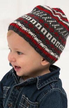 Fair Isle Hat Free Knitting Pattern from Red Heart Yarns