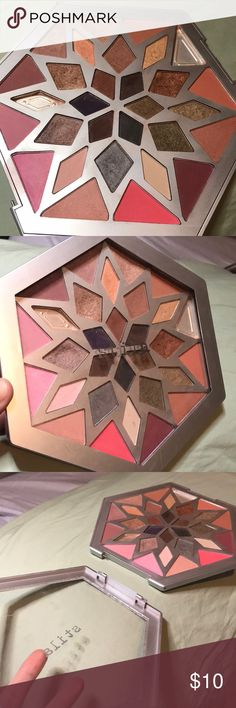 Stila Snow Angel Palette of Blush and Eyeshadow This palette was used and is priced accordingly. I dropped it once and broke the lid. None of the product shattered, just the lid broke. It was purchased at Sephora, 100% authentic. Some colors are gone, some were never used. Being 100% honest. If you like any other makeup in my closet, bundle it and I will give you an excellent price. As you can see, I buy TONS of makeup and really need to clear my closet! Blush AND eyeshadow! Stila Makeup…