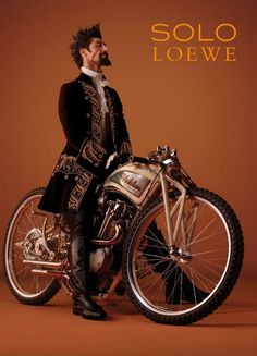 Steampunk Tendencies | Solo Loewe #Steampunk ☮k☮ - Although I really wouldn't want to come to an abrupt stop on that particular bike... You'd be in for a short flight with a rather unpleasant landing.