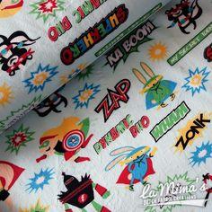 Robert Kaufman | Shannon Fabrics| Minky, Minkee Fleece - Cuddle Fleece Superheroes
