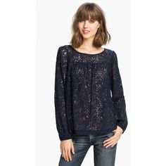 Ella Moss 'hannah' Lace Blouse ($138) ❤ liked on Polyvore