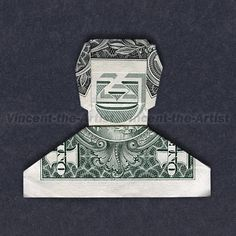 SMILEY DUDE Cash Origami Greenback Invoice Money Man by DollarArtist. ** Discover even more at the picture Origami Man, Origami Paper Folding, Origami Gifts, Money Origami, Origami Design, Origami Stars, Diy Origami, Origami Tooth, Paper Oragami
