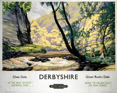 Poster yorkshire dales railways vintage british