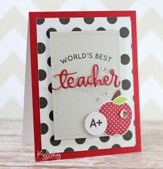 Teacher's Pet Release along with Pretty Pink Posh dies/sequins and Reverse Confetti apple stamp! Back To School Gifts For Teachers, Teacher Thank You Cards, Teachers Day Gifts, Back To School Party, Teacher Gifts, Diy Cards Crafts, Pretty Pink Posh, Teacher Appreciation Gifts, Card Tags