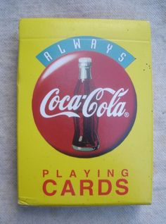 Vintage Coca-Cola Playing Cards Set 2 Decks New In Box Factory Sealed Coke Women