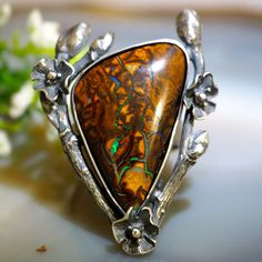 Fairy Ring anillo del ópalo australiano Boulder Opal por Izovella