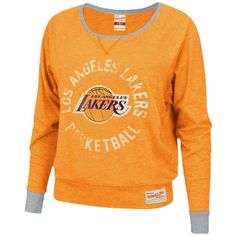 #Fanatics  Mitchell & Ness Los Angeles Lakers Ladies Spectacular Long Sleeve T-Shirt – Gold