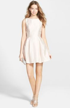 Soprano Bow Back Fit & Flare Dress available at #Nordstrom $58