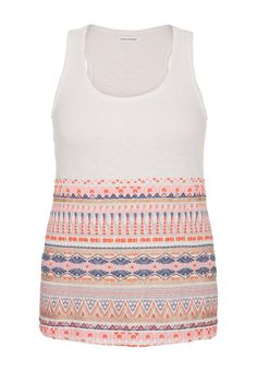 puff paint embellished plus size tank with raw edges - maurices.com