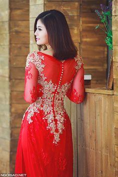 Hồng Châu diện áo dài cưới cầu kỳ làm cô dâu - Ngoisao Ngôi sao