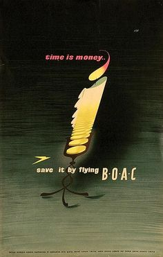 Giad - time is money, save it by flying BOAC