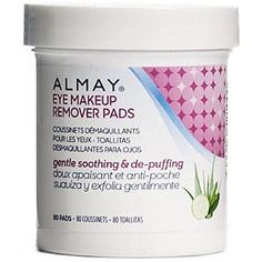Almay Eye Makeup Remover Pads, Gentle, Soothing & De-Puffing 80 Pads (Pack of Makeup Remover Towel, Homemade Makeup Remover, Best Makeup Remover, Eye Make-up Remover, Make Up Remover, Almay Makeup, Eye Makeup, Beauty Makeup, Neutrogena