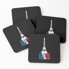'take me back to paris' Coasters by mikenotis Coaster Design, Coaster Set, Cool Coasters, Sell Your Art, Paris, Art Prints, Printed, Cool Stuff, Awesome